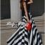 Arianna Glam Chic Swirl Striped Maxi Dress thumbnail 3