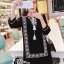 ชุดเดรสเกาหลี พร้อมส่งMini Dress โมฮีเมี่ยนสีดำ thumbnail 2