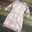 ชุดเดรสเกาหลี พร้อมส่งMini dress แขนยาวงานสวยงานปักและตัดเย็บเเน่นมากค่ะซับในเย็บติดผ้า thumbnail 10