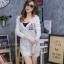 เสื้อผ้าเกาหลีพร้อมส่ง เสื้อคลุมแขนยาวไหมพรมเนื้อบางผ้าลอน thumbnail 1