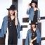 เสื้อผ้าเกาหลีพร้อมส่ง แจ็คเก็ตยีนส์ ไอเท็มสุดฮิต ของดาราเซเล็ป thumbnail 4