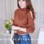 เสื้อผ้าแฟชั่นเกาหลีพร้อมส่ง เสื้อไหมพรมดีไซน์แขนเว้างานสวยแซ่บแมทช์ง่ายใส่สบายค่า thumbnail 2