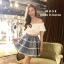 เสื้อผ้าเกาหลีพร้อมส่ง เซ็ตเสื้อเปิดไหล่สีขาว thumbnail 3