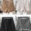 เสื้อผ้าเกาหลีพร้อมส่ง กางเกงขาสั้นเอวสูงแต่งลูกไม้ที่ ชายกางเกง thumbnail 2