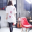 เสื้อผ้าเกาหลี พร้อมส่งเสื้อตัวยาว พิมพ์ลาย Daisy Duck thumbnail 3