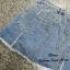 เสื้อผ้าเกาหลีพร้อมส่ง กระโปรงกางเกงยีนส์ ขาสั้น thumbnail 4