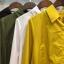เสื้อผ้าเกาหลีพร้อมส่ง เสื้อเชิ้ตหน้าสั้นหลังยาว มีเชือกผูกเอวด้านข้าง thumbnail 10