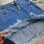 เสื้อผ้าเกาหลีพร้อมส่ง กระโปรงยีนส์ แต่งด้วยการตัดเย็บเป็นระบาย 2 ชั้น thumbnail 3