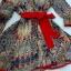 ( พร้อมส่ง) เดรสลุค formal casual เรียบหรู เก๋ด้วยลายผ้าดีเทลตัดต่อขอบชุดด้วยสีแดง ให้ลุคสะดุดตา Vด้านหน้าค่ะ จั๊มเอวพร้อมเชือกผูกตกแต่งชุด มีซับในในตัวนะคะ thumbnail 11