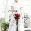 Meryl Basic Laser-Cut White Cotton Dress thumbnail 1