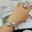 Pearl Bracelet & Ring กำไลเพชร CZ แท้ประดับมุก thumbnail 5