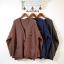 เสื้อผ้าเกาหลีพร้อมส่ง Pant knit กางเกงขายาวผ้าไหมพรมแต่งแถบข้าง thumbnail 19