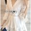 เสื้อผ้าเกาหลีพร้อมส่ง เสื้อยาวผ้าคอตตอนสีขาวตกแต่งลูกไม้สไตล์วินเทจ thumbnail 6