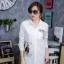 เสื้อผ้าเกาหลีพร้อมส่ง เดรสเชิ้ตแขนยาว กระดุมเรียงสกรีนลาย thumbnail 9