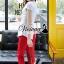 เสื้อผ้าเกาหลี พร้อมส่งCrimson red pants set thumbnail 7