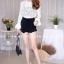 เสื้อผ้าเกาหลีพร้อมส่ง เสื้อลูกไม้งานสวยทรงเป๊ะดีไซน์เก๋ได้ลุคสาวหวานสุดๆค่า thumbnail 12