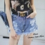 เสื้อผ้าเกาหลีพร้อมส่ง กางเกงยีนส์ Gucci ขาสั้น thumbnail 2