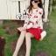 Blossom Cherry Strips Knit Cardigan thumbnail 5