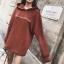 ชุดเดรสเกาหลีพร้อมส่ง มินิเดรส(เสื้อตัวยาว) ผ้ายืด thumbnail 15