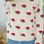 เสื้อผ้าเกาหลีพร้อมส่ง ไหมพรมกันหนาว ลายแตงโม น่ารักมากๆ thumbnail 5