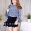 เสื้อผ้าเกาหลีพร้อมส่ง เสื้อลูกไม้งานสวยทรงเป๊ะดีไซน์เก๋ได้ลุคสาวหวานสุดๆค่า thumbnail 7