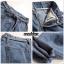 เสื้อผ้าเกาหลีพร้อมส่ง กางเกงผ้ายีนส์ เอวมีเข้มขัดผ้ายีนส์ผูกเอว thumbnail 4