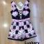 เสื้อผ้าแฟชั่นเกาหลีพร้อมส่ง Jumpsuit ขาสั้นแขนกุด thumbnail 6