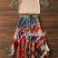เสื้อผ้าแฟชั่นเกาหลีพร้อม่ส่ง Fashionally Denim-Chiffon Printed Skirt Set thumbnail 7
