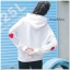 เสื้อผ้าเกาหลีพร้อส่ง เสื้อกันหนาวมีฮู้ด แต่งรูปหัวใจตรงแขน2ข้าง thumbnail 4
