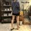 เสื้อผ้าเกาหลีพร้อมส่ง Stripe V Top เสื้อคอวี thumbnail 6