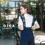 เสื้อผ้าเกาหลีพร้อมส่ง เอี้ยมยีนส์ปักสัปรดที่สายเอี้ยมน่ารักๆ thumbnail 4