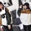 เสื้อผ้าเกาหลีพร้อมส่ง เสื้อตัวยาว หรือ มินิเดรส ผ้า knit ลายดอกไม้ thumbnail 6