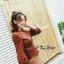 เสื้อผ้าเกาหลีพร้อมส่ง เสื้อไหมพรมแขนยาวดีไซน์แขนให้ดูพองๆน่ารักมากๆ thumbnail 8