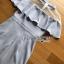 ชุดเดรสเกาหลีพร้อมส่ง เดรสผ้าเครปสีฟ้าอ่อนตกแต่งระบาย thumbnail 13