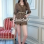 เสื้อผ้าเกาหลีพร้อมส่ง Whiffle Rim Lace Murky Color Playsuit thumbnail 1