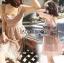 ชุดเดรสเกาหลีพร้อมส่ง เดรสผ้าลูกไม้สีชมพูทรงหัวใจสุดเซ็กซี่ thumbnail 3