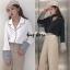 เสื้อผ้าเกาหลีพร้อมส่ง เสื้อเชิ้ตแต่งสีตัดขอบ thumbnail 11