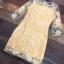 ชุดเดรสเกาหลี พร้อมส่งMini dress แขนยาวงานสวยงานปักและตัดเย็บเเน่นมากค่ะซับในเย็บติดผ้า thumbnail 14