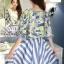 เสื้อผ้าเกาหลี พร้อมส่งเซ็ทเสื้อ+กระโปรง เสื้อผ้า silk satin thumbnail 3
