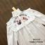 เสื้อผ้าเกาหลีพร้อมส่ง เสื้อแขนยาวสีขาว ช่วงอกเย็บแต่งระบายพร้อมพิมพ์ลายมวยไทย thumbnail 5