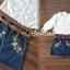 เสื้อผ้าเกาหลีพร้อมส่ง Chic Sticky Blue Flora Set thumbnail 6