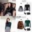 เสื้อผ้าเกาหลีพร้อมส่ง สำหรับงานไหมพรมเนื้อผ้าบางๆยืดหยุ่นได้สูงใส่กระชับ thumbnail 4