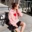 เสื้อผ้าเกาหลีพร้อมส่ง Set เสื้อจั้มเปอร์กับกางเกงกระโปรงผ้าเนื้อดีหนานุ่ม thumbnail 4