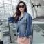 เสื้อผ้าเกาหลีพร้อมส่ง Jacket Jeans เนื้อผ้ายีนส์ดีมว๊าก thumbnail 4