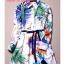 ชุดเดรสเกาหลี พร้อมส่ง เดรส แบรนดังจาก Miu Miu ปริ้นลายมวลหมู่ ดอกไม้ และ ผีเสื้อ thumbnail 4