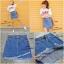 เสื้อผ้าเกาหลีพร้อมส่ง กระโปรงยีนส์ แต่งด้วยการตัดเย็บเป็นระบาย 2 ชั้น thumbnail 6
