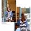 ชุดเดรสเกาหลี พร้อมส่ง Cute Mickey strip attractive Denim Dress thumbnail 4