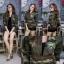 เสื้อผ้าเกาหลีพร้อมส่ง เสื้อคลุมตัวยาว แขนยาวทูโทนลายทหาร thumbnail 1