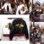 เสื้อผ้าเกาหลีพร้อมส่ง เสื้อหนังปักผึ้ง Gucci ปักสวย thumbnail 6