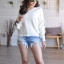 เสื้อผ้าเกาหลีพร้อมส่ง เสื้อไหมพรม Korea Design งานผ้าไหมพรมอย่างดี thumbnail 9
